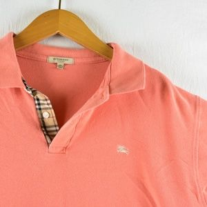 burberry london salmon polo size xl